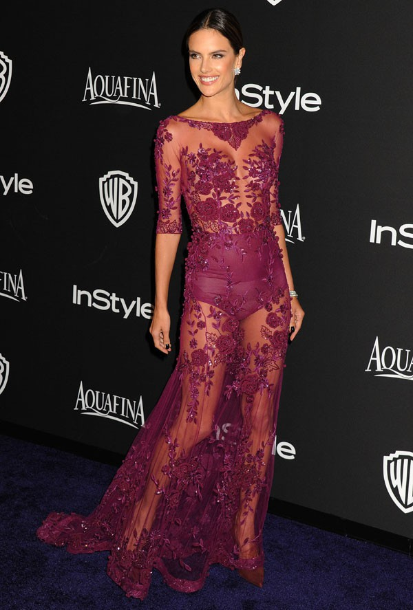 Alessandra Ambrosio à l'after-party In Style organisée le 11 janvier 2015 à Beverly Hills