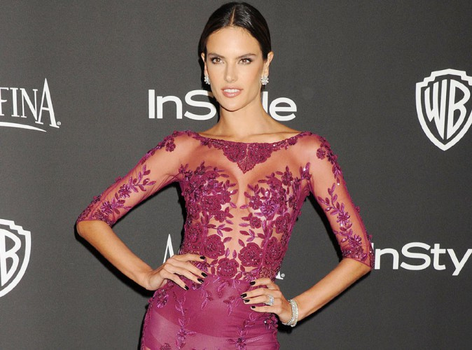 Golden Globes 2015 : Alessandra Ambrosio : caliente avec son look transparent à l'after-party In Style !