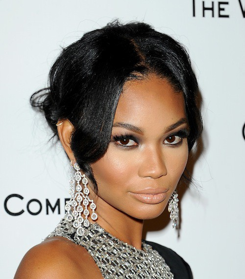 Chanel Iman à l'after party des Golden Globes 2015, le 11 janvier 2015