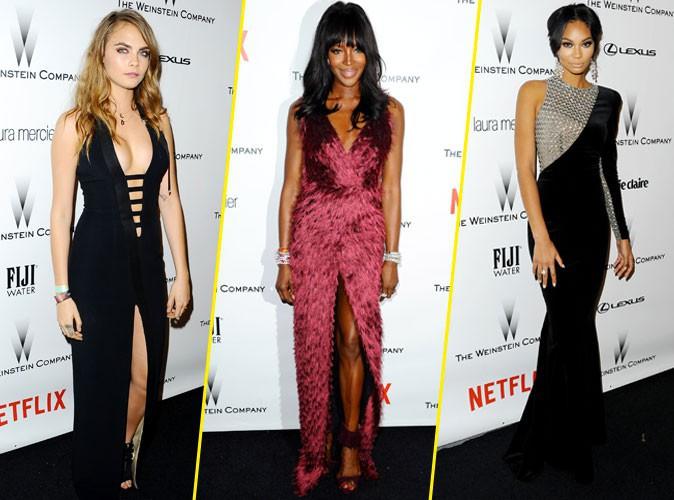Photos : Golden Globes 2015 : Cara Delevingne, Naomi Campbell, Chanel Iman… : les bombes sont de sortie !