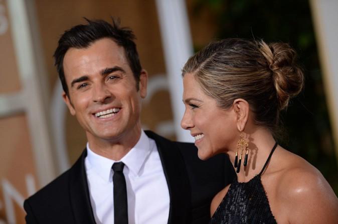 Jennifer Aniston et Justin Theroux aux Golden Globes le 11 janvier 2015