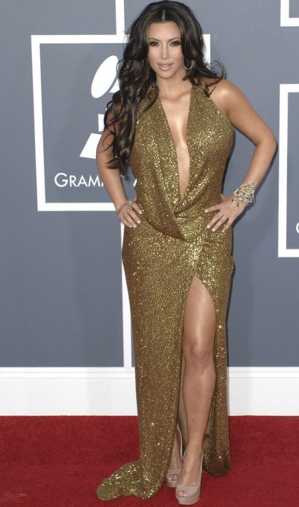 Kim Kardashian en gold !