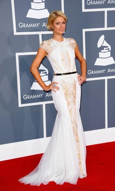Paris Hilton lors de la cérémonie des Grammy Awards à Los Angeles, le 12 février 2012.