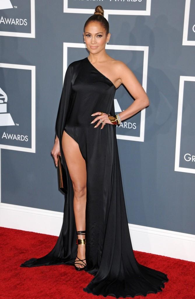 PhotogragherJennifer Lopez lors de la 55e cérémonie des Grammy Awards à Los Angeles, le 10 février 2013.