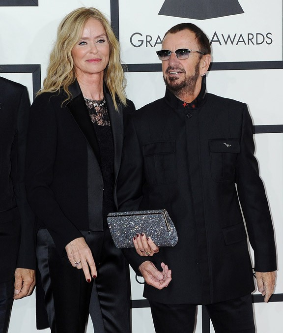 Barbara Bach et Ringo Starr à la 56e cérémonie des Grammy Awards le 26 janvier 2014