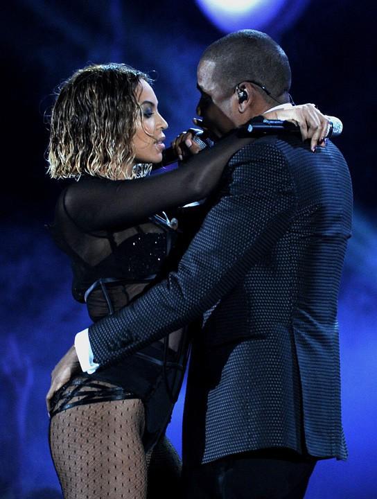 Beyoncé et Jay-Z à la 56e cérémonie des Grammy Awards le 26 janvier 2014