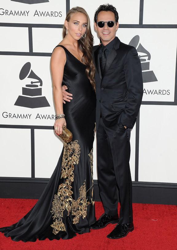 Chloe Green et Marc Anthony à la 56e cérémonie des Grammy Awards le 26 janvier 2014