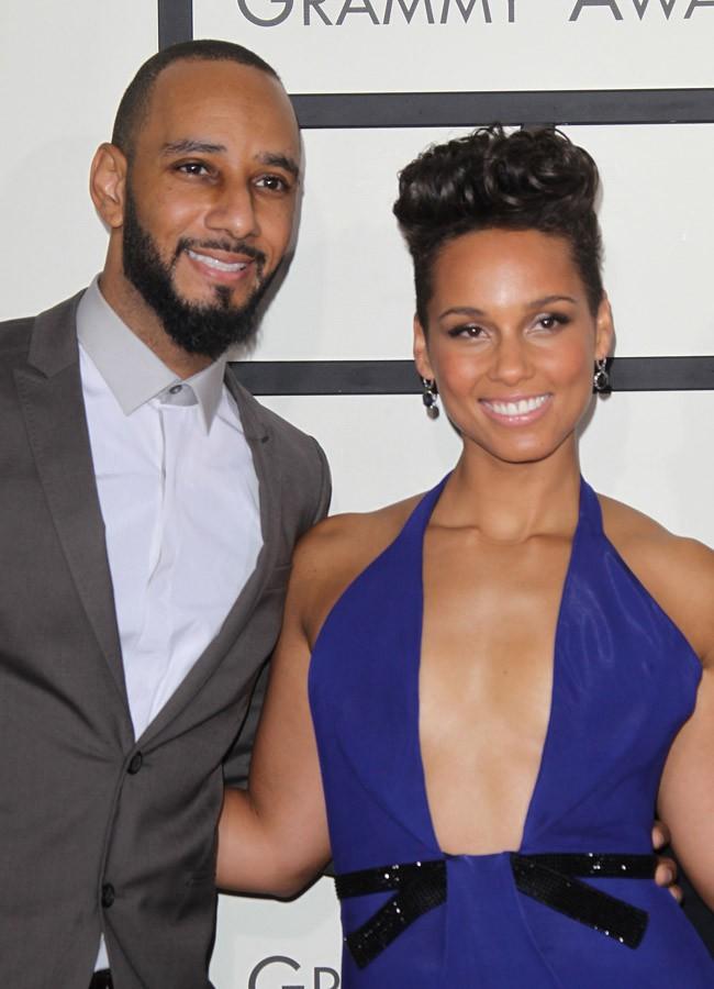 Swizz Beatz et Alicia Keys à la 56e cérémonie des Grammy Awards le 26 janvier 2014