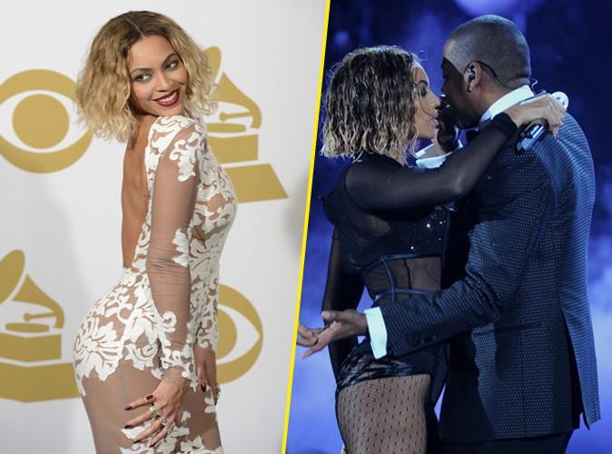 Beyoncé et Jay-Z lors des Grammy Awards à Los Angeles, le 26 janvier 2014.