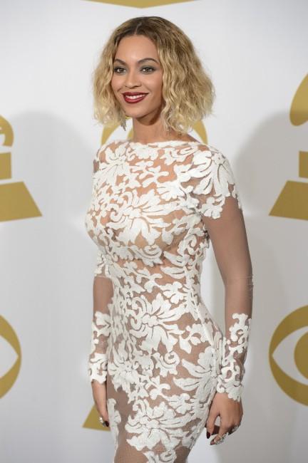 Beyoncé lors des Grammy Awards à Los Angeles, le 26 janvier 2014.