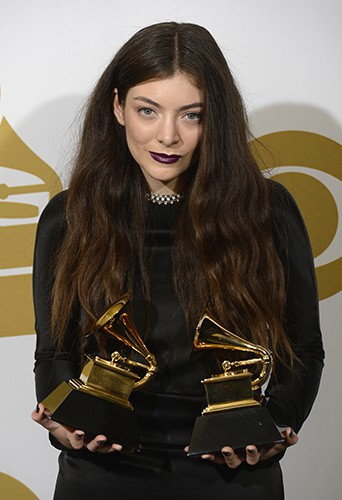 Lorde à Los Angeles le 26 janvier 2014
