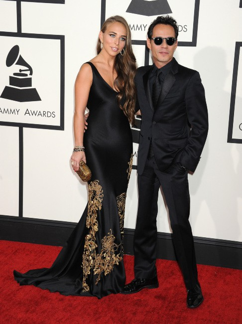 Chloe Green et Marc Anthony lors des Grammy Awards à Los Angeles, 26 janvier 2014.