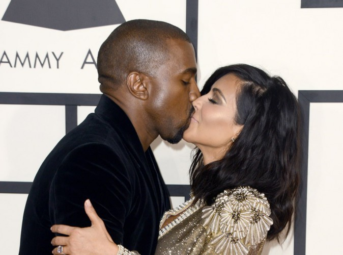 Photos : Grammy Awards 2015 : Kim Kardashian et Kanye West : fous amoureux !