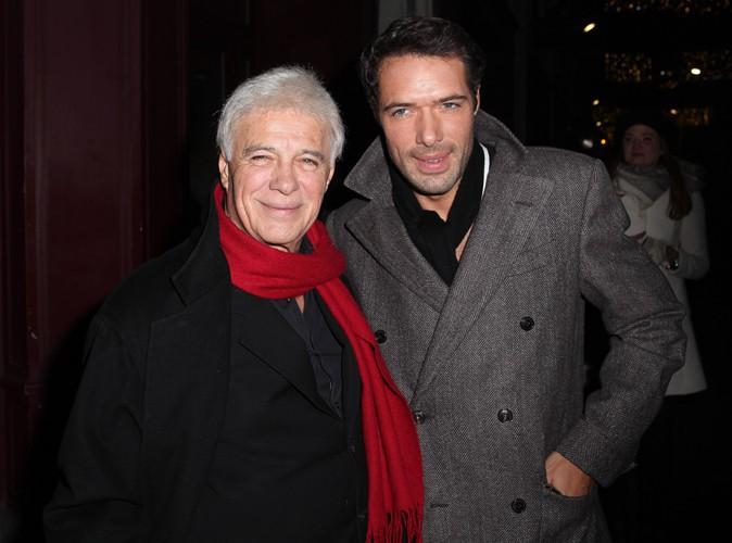 Guy Bedos et Nicolas Bedos à Paris le 23 décembre 2013
