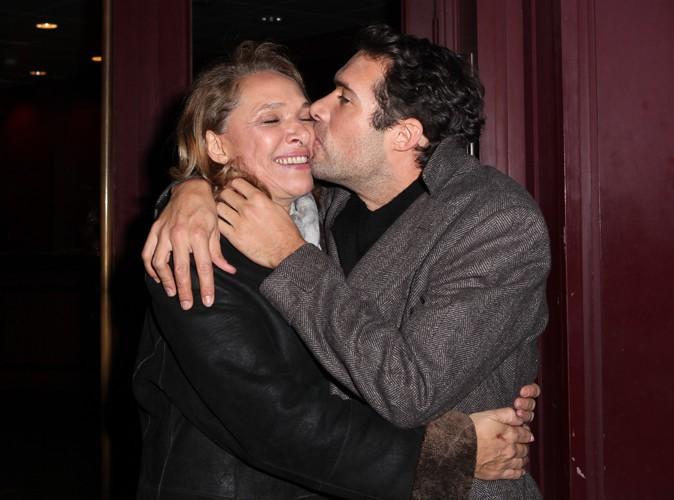 Joëlle Bercot et Nicolas Bedos à Paris le 23 décembre 2013