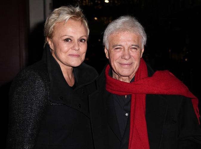 Muriel Robin et Guy Bedos à Paris le 23 décembre 2013