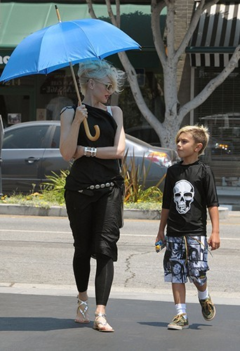 Gwen Stefani et ses enfants à Los Angeles le 4 juillet 2013