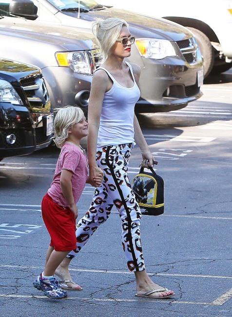 Gwen Stefani et son fils Zuma à Los Angeles le 24 juillet
