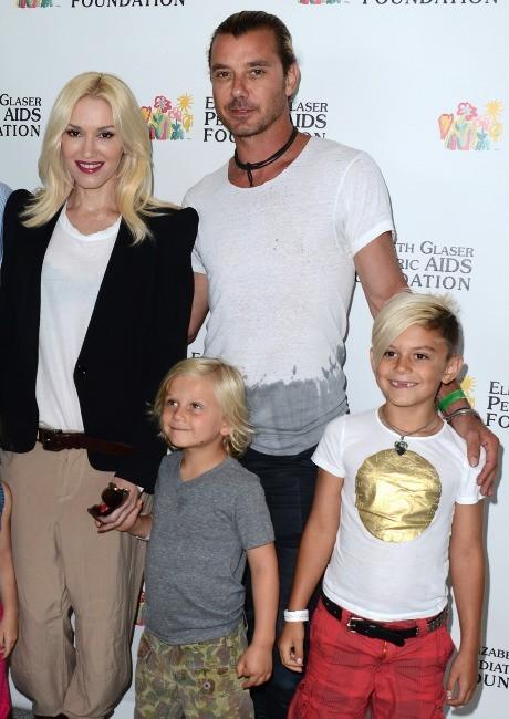 """Gwen Stefani en famille lors de l'événement """"A Time For Heroes"""" à Los Angeles, le 2 juin 2013."""