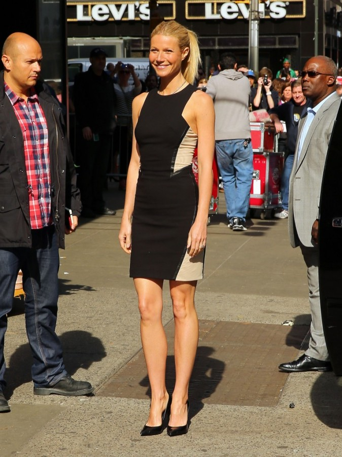 Gwyneth Paltrow après son passage sur le plateau de l'émission Good Morning America à New York, le 10 avril 2013.