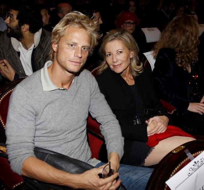 Arnaud Lemaire et Claire Chazal lors de la première du film La Source des Femmes à Paris, le 24 octobre 2011.