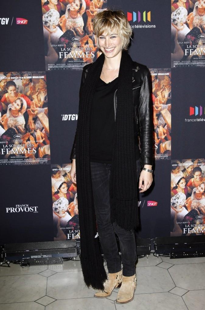 Pauline Lefèvre lors de la première du film La Source des Femmes à Paris, le 24 octobre 2011.