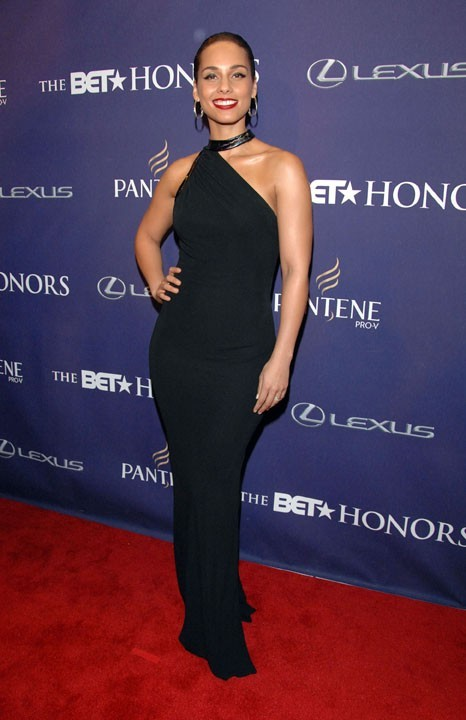 Alicia Keys sur le tapis rouge des BET Honors à Washington le 12 janvier 2013