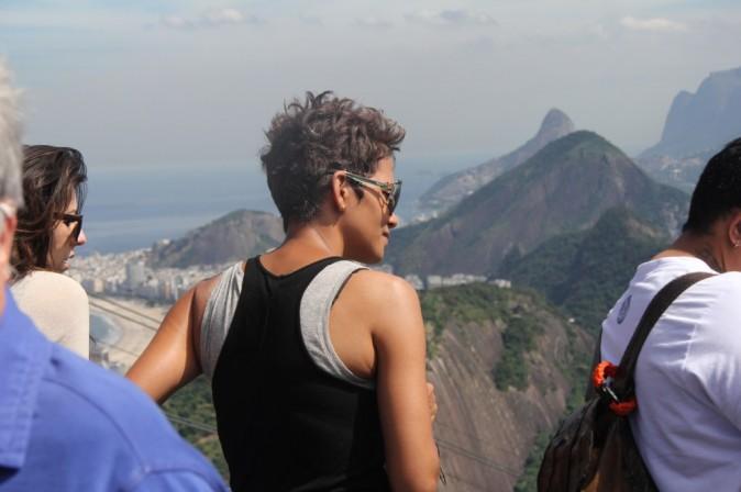 Halle Berry joue les touristes à Rio de Janeiro le 12 avril 2013