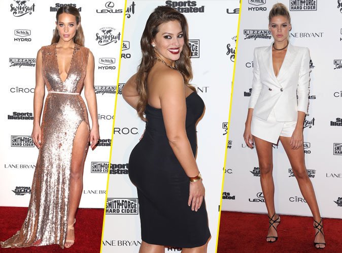 Hannah Davis, Ashley Graham, Kelly Rohrbach... Combat de bombes à la soirée Sports Illustrated