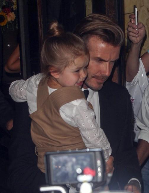 Les Beckham en plein coeur d'une émeute à New York, le 8 septembre 2013.