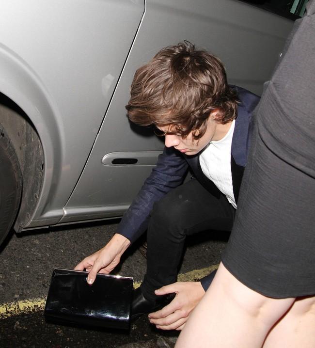 Harry Styles à Londres le 9 janvier 2013