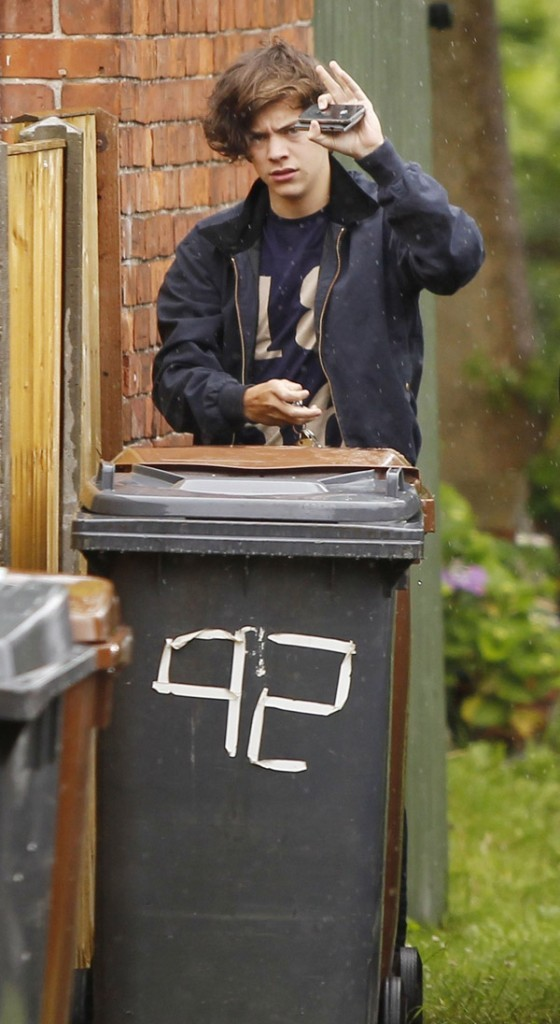 Harry Styles le 16 juillet 2012 chez lui, en Angleterre