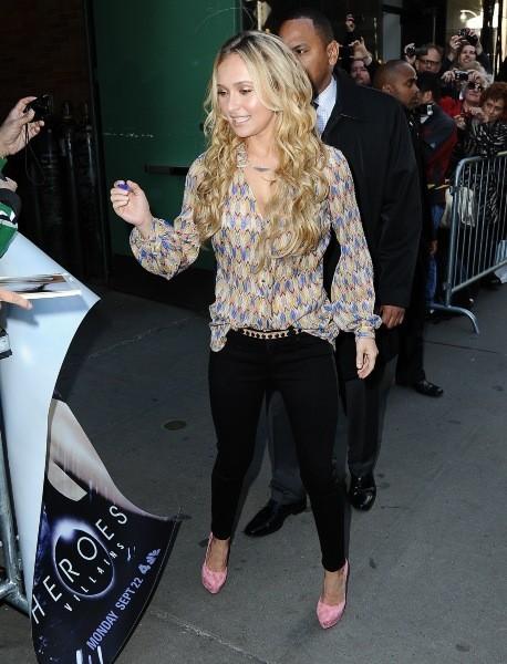 Hayden Panettiere à la sortie de l'émission Good Morning America à New york, le 16 octobre 2012.