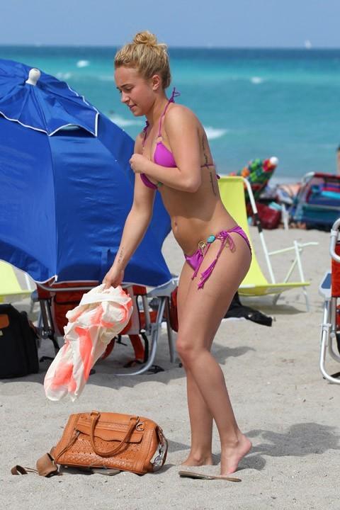 Hayden Panettiere à Miami le dimanche 31 mars 2013