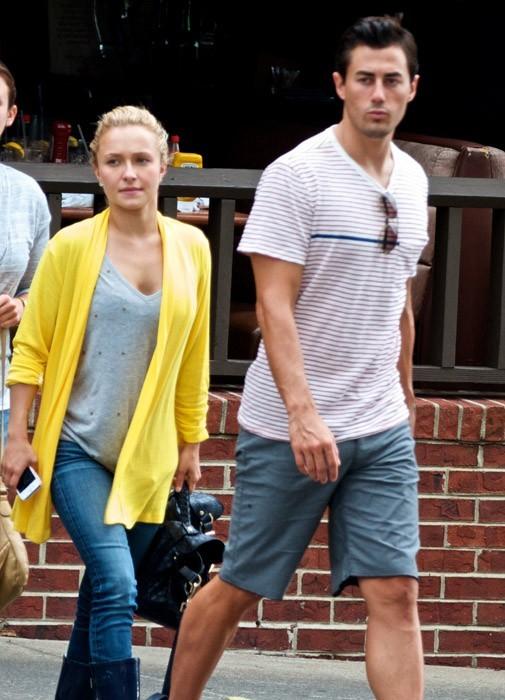 Hayden Panettiere et son boyfriend dans les rues de Nashville