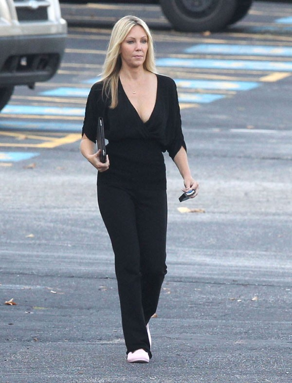 Heather Locklear sur le tournage de Scary Movie 5 à Atlanta le 18 septembre 2012