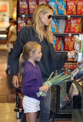 Heidi Klum et sa famille à Los Angeles le 2 août 2013