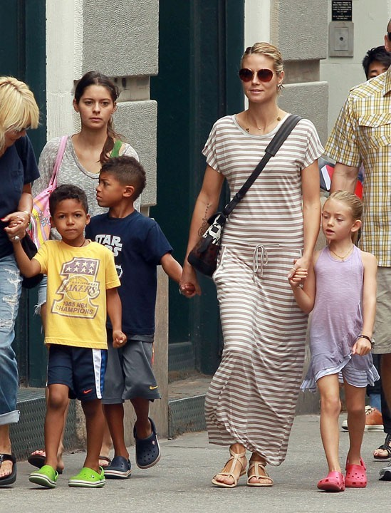 Heidi Klum et ses enfants...