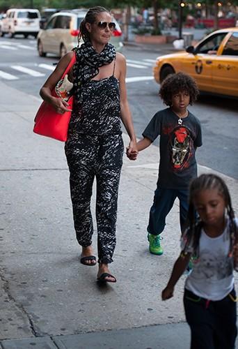 Heidi Klum et sa famille à New-York le 7 juillet 2013