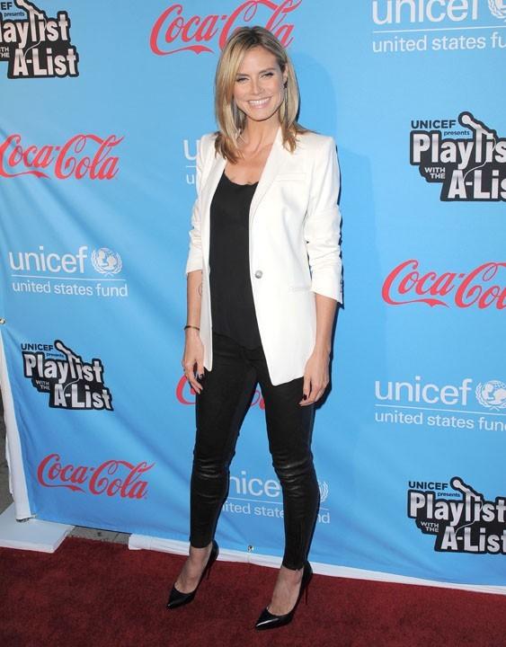 Heidi Klum à la soirée de l'UNICEF hier à Los Angeles !