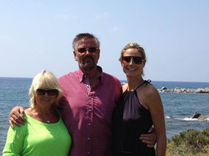 Avec papa et maman Klum