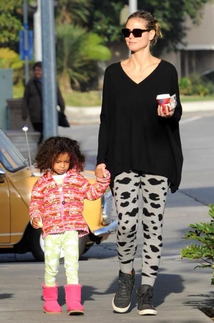 Heidi Klum et sa fille Lou le 25 novembre 2012 à Los Angeles