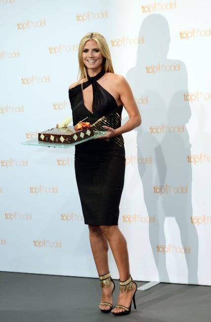 """Heidi Klum en promo pour la saison 8 de """"Germany's Next Topmodel"""" à Berlin, le 27 mai 2013."""
