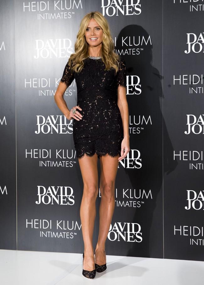 Heidi Klum à Sydney le 28 janvier 2015