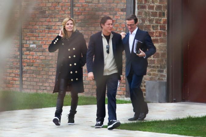 Heidi klum avec son nouveau boyfriend Vito Schnabel à Paris le 17 mars 2014