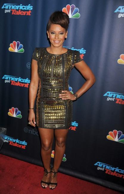 """Mel B lors de la soirée """"America's Got Talent Season 8 Pre-Show Red Carpet Event"""" à New York, le 24 juillet 2013."""