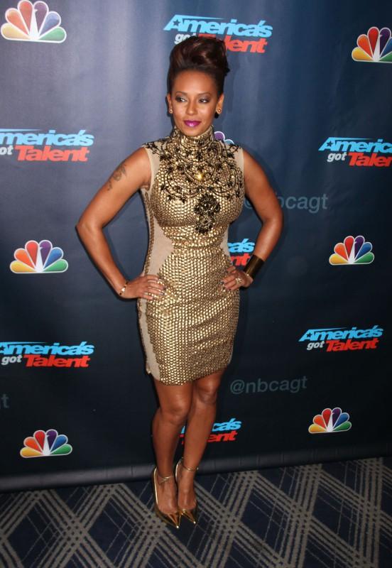 """Mel B lors de la soirée """"America's Got Talent"""" à New York, le 7 août 2013."""