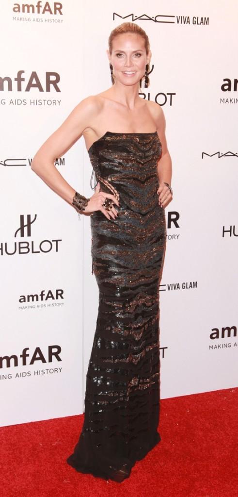 Glamour au gala de l'Amfar hier