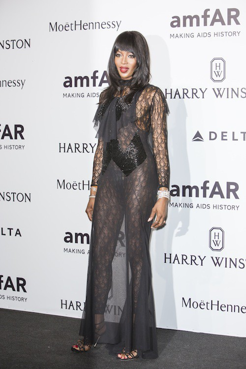 Naomi Campbell à Milan, le 26 septembre 2015
