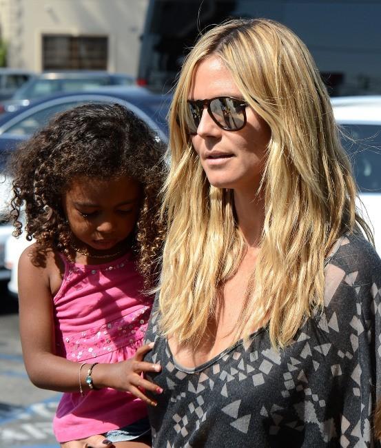 Heidi Klum et sa petite Lou le 28 avril 2013 à Los Angeles